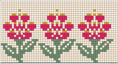 Fair Isle Flower Pattern Design by BarbSie Tiny Cross Stitch, Cross Stitch Bookmarks, Beaded Cross Stitch, Cross Stitch Borders, Cross Stitch Flowers, Cross Stitch Designs, Cross Stitching, Cross Stitch Patterns, Embroidery Patterns