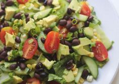 Southwest Chopped Salad (vegan & gluten free) Only 227 calories! Dairy Free Diet, Dairy Free Recipes, Vegan Gluten Free, Vegan Vegetarian, Vegan Recipes, Non Dairy Dinner, Paleo Dinner, Southwest Chopped Salads, Southwest Salad