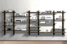 Design your own set of modular hardwood bookshelves.  Let Mirens create them.