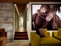 large image - dining idea - not horses nut abstract - contemporary family room by Garret Cord Werner Modern Home Interior Design, Modern Design, Simple Interior, Architecture Restaurant, Large Scale Art, Large Art, Equestrian Decor, Equestrian Style, Kentucky Derby