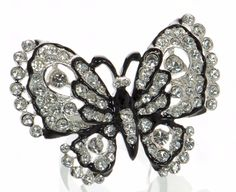Kenneth Jay Lane Crystal Butterfly Ring Sz.- 7 #KennethJayLane #Cocktail