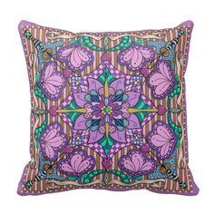 Hearts Collide Zentangle-Inspired Pillow