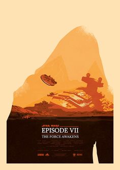 Showcase of Incredible Star Wars: The Force Awakens Fan Art - Kylo Ren & The Millenium Falcon As the most anticipated movie of the moment, Star Wars: The Force Awakens has been the subject of many personal works as creative people find ways to channel their new found inspiration into fun side projects. These talented designers and illustrators loved the movie so much they used their creative skills to produce their own alternative movie posters and tribute art.