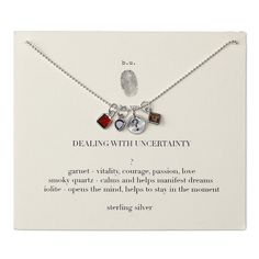 Dealing With Uncertainty Necklace   Garnet & Quartz Pendant   @giftryapp