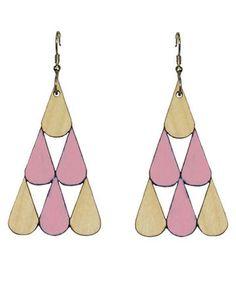 Tearpile earrings | rose/wood  Jatuli