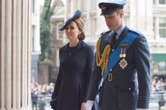 The Duke & Duchess of Cambridge arriving at Afghan Service at St Paul's Cathedral.