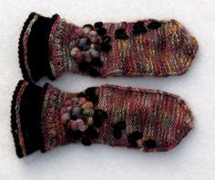 Norwegian embroided Mitts  The Winter Wine by Dom by domklary, $35.00