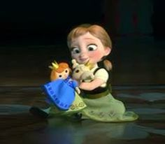 Anna and Elsa Dolls! Did you know that the Anna doll is actually the second Anna doll? If you look closely at the scene where Elsa moves out the Anna doll on Elsa's side of the room goes with her...