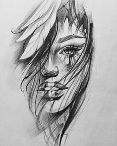 60 Ideas for womens face tattoo sketch girls – Tattoo Sketches & Tattoo Drawings Mädchen Tattoo, Leg Tattoos, Body Art Tattoos, Sleeve Tattoos, Manga Tattoo, Tattoo Pain, Snake Tattoo, Arrow Tattoos, Tiny Tattoo