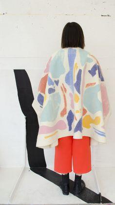 painters palette cape felt, silkscreen - Amber Day