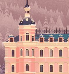 / james gilleard / grand budapest hotel / on behance / Grand Budapest Hotel, Grand Hotel, Pokemon Regions, Christmas Poster, Film Aesthetic, Movie Titles, Cinema Posters, Museum, Amazing Architecture