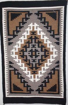 Two Grey Hills Navajo rug for sale by Navajo weaver Lorraine Benally Navajo Art, Navajo Rugs, Traditional Rugs, Navajo Weaving, Contemporary Rugs, Woven Rug, Handmade Rugs, Wool Blanket