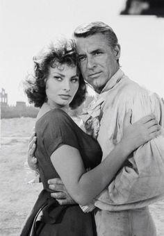 Gary Grant y Sophia LOREN