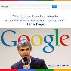 Larry Page es un empresario estadounidense conocido por ser el creador junto a Sergey Brin de Google. #FelizMartes #GooglePartner #Martes  #buenosdias