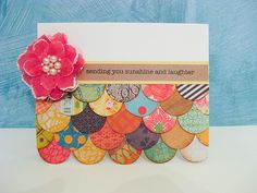 great card to use up scraps!  But, I could also see this as the bottom half on a 12 x 12 page as well.  Love it!