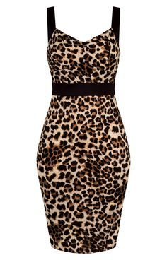 Miss Vixen Pin Up Leopard Pencil Dress