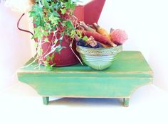 Primitive Tabletop Riser Grass Green Kitchen by baconsquarefarm. For kitchen table