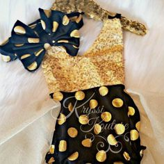 VOTED#1 Outfit for New Years Eve!!! You can never go wrong with Black & Gold!!! Adorable outfit in shop...