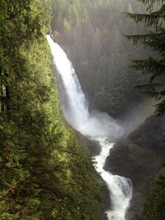 """Wallace Falls State Park - For an extreme hike near Everett, Washington's """"social mountain,"""" Mount Pilchuck State Park is our pick. The three-mile trail ascends through mountainous alpine terrain to a breathtaking panoramic view of both the Cascade and Olympic mountains. Another park known for its hiking opportunities is Wallace Falls State Park."""