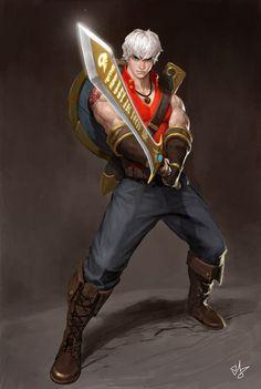 Hero, Han Sa Kwang on ArtStation at https://www.artstation.com/artwork/heroine-201f9978-5efc-42fe-93ee-30365e26ae50