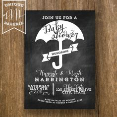 Chalkboard Umbrella /// Baby Shower or Sprinkle by designsbynicolina, $24.75