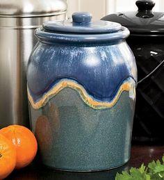 Leakproof, Odor-Free 1-Gallon Glazed Ceramic Compost Crock, In Blue Plow & Hearth http://www.amazon.com/dp/B009YY7KR4/ref=cm_sw_r_pi_dp_-rWrub0NFY0W9