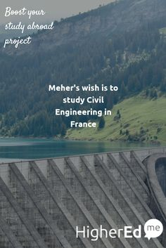 Meher has shared his wish to #studyabroad #CivilEngineering in #France with his friends #studentsofHigherEdMe  Make your study abroad wish too on