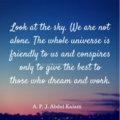 Silent Saturday is a segment I do each week with the intention to promote inner peace and reflection. This week is a quote by A. P. J. Abdul Kalam.