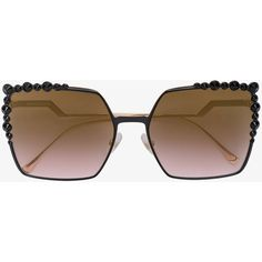 f1992a9a55cc Fendi Eyewear Can Eye two-tone sunglasses ( 480) ❤ liked on Polyvore  featuring accessories