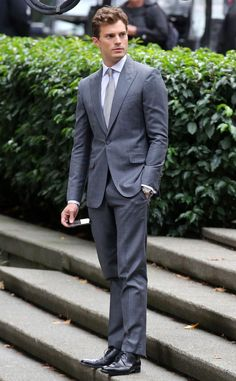 Jamie Dornan Returns as Christian Grey (With the Silk Tie!) for Fifty Shades of Grey Reshoots  Jamie Dornan