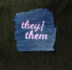 They/Them Pronouns Patch