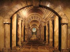 Roman Hallway Mural  in The Roman Casino,Seattle