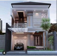 Image may contain: house, tree and outdoor House Arch Design, 3 Storey House Design, Architect Design House, Two Story House Design, Village House Design, Small House Design, Dream Home Design, Architecture Design, Modern Exterior House Designs