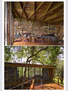 Country library complete with a beautiful piano