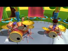 Drum kit, musical instruments, music education resources for kids - YouTube