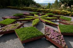 International Garden Festival to Exhibit Fractal Garden in Toronto at the IIDEX/NeoCon Canada This is such a cool idea. Raised beds on wheels and you can change the design periodically....maybe to represent holidays or certain events