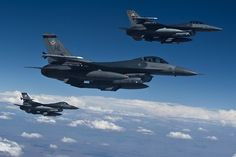 F16s from the 388th Fighter Wing, Hill AFB, Utah. Allen was stationed at Hill AFB!