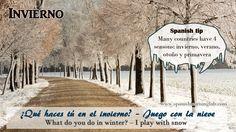"""La nieve"" (snow) es lo que identifica el invierno (winter).  http://www.spanishlearninglab.com/the-weather-in-spanish/"