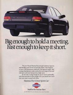 Nissan Maxima ad.