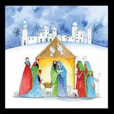 Religious Christmas Cards, Christmas Nativity, Christmas Glitter, Watercolor Christmas, Painting, Image, Google, Nativity, Painting Art
