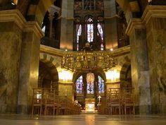 Carolingian...Odo of Metz, Palatine Chapel Interior, Aachen, 1805