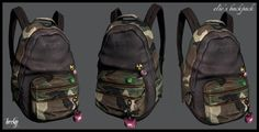 Elie's camouflage backpack accessory by Becky • Sims 3 Downloads CC Caboodle
