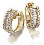 #Jewelry #Gold and #Diamond #Huggy #Earrings