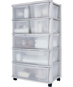 Genial Tall 7 Drawer Plastic Wide Tower Storage Unit   White At Argos.