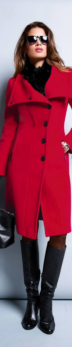Everyone should have a red coat in their wardrobe except of course if you live in the tropics then you need a red garment of some sort.