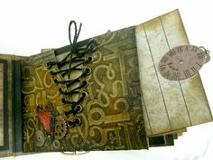 scrappin it: Faux Leather TP mini Album  fabulous mini book by Einat Kessler