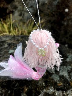 Pink Little Mermaid Hanging Ornament Under The Sea Theme