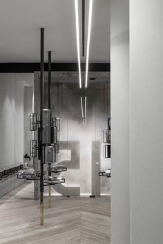 Greek firm Kois Associated Architects imagined a forest of geometric trees when designing this shop and workspace for Athens-based jewellery designer Ileana Makri.