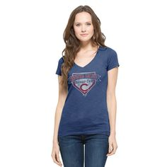 Chicago Cubs 47 Brand Womens 2015 NLCS MLB Postseason Scrum Blue T-Shirt