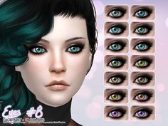- 14 Colors  Found in TSR Category 'Sims 4 Eye Colors'